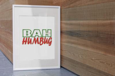 Bah Humbug Applique