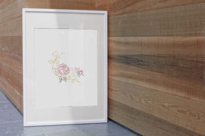 Corner Rose Lineart