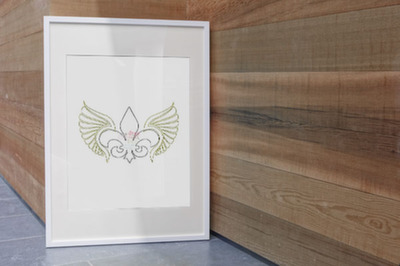 Fleur De Lis With Wings